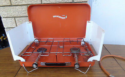 """2 Burner  """"the Wanderer""""  Lpg Camping Stove. Hardly Used"""