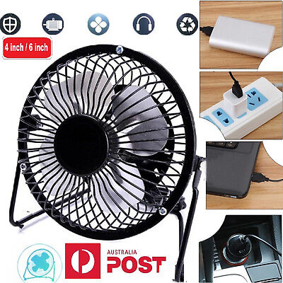 New USB mini Portable Desktop Cooling Desk Quiet Fan Computer Laptop PC