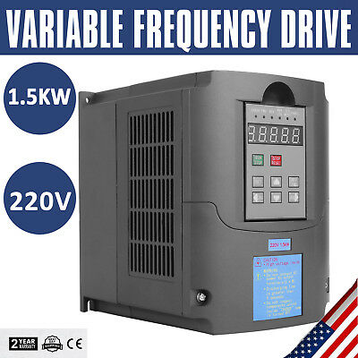 1.5KW 2HP CNC 220V VARIABLE FREQUENCY DRIVE Speed Control INVERTER VFD