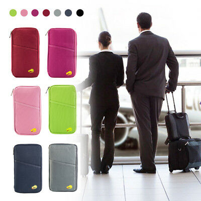 Family Passport Holder Document Organizer Card Wallet Pouch Money ID Ticket Bags