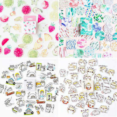 45pcs Cute Stickers Kawaii Stationery DIY Scrapbooking Journal Diary Stickers