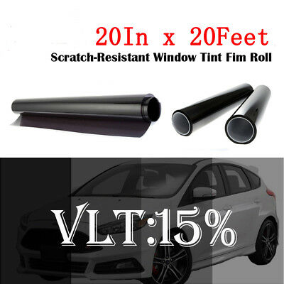 """Uncut Window Tint Film Shade 15%VLT 20"""" In x20 Ft for Chevrolet Cars CHEVY Glass"""