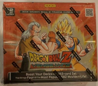 Panini Dragon Ball Z: Vengeance Booster Box DBZ New Sealed 24 Packs