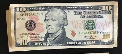 New $10 Bills Novelty Fake Money - Most Realistic Paper Money (50$ in 10's)