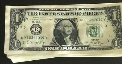 New $1 Bills Novelty Fake Money - Most Realistic Paper Money (20$ in 1's)
