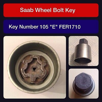 SAAB 900 93 9-3 95 9-5 94-10MY GENUINE LOCKING WHEEL BOLT BLACK COVER SET OF 4