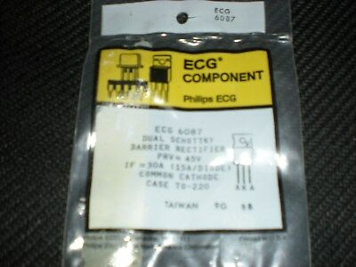 Ecg6087 Dual Schottky Barrier Diode To-220 Repl Nte6087