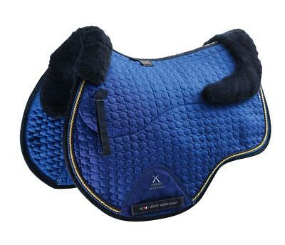 PEI Merino Wool European Saddle Pad - GP - Royal Blue with Navy Wool