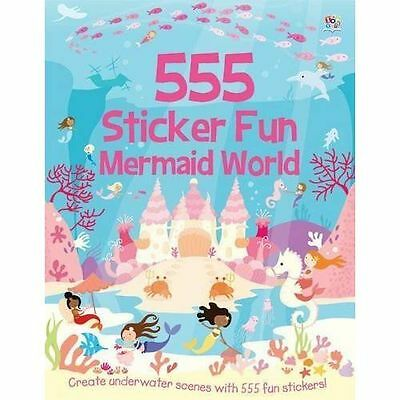 555 Sticker Fun Mermaid World by Susan Mayes BRAND NEW BOOK (Paperback, 2014)