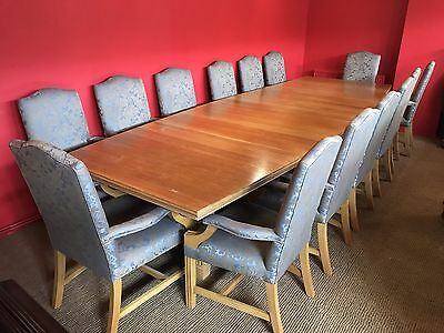 13ft MAGNIFICENT OAK BOARDROOM/DINING TABLE, TO BE PRO FRENCH POLISHED