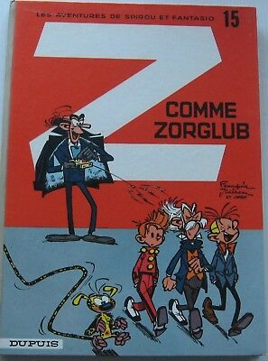 Spirou and Fantasio Z as Zhang Back round Grey No. 15a 1967 Excellent Franquin