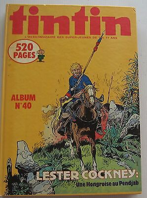 Album Journal Tintin No. 40 Herge/Lesner Cockney Good Condition 1983