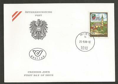 AUSTRIA - 1988 The 1200th Anniversary of Ansfelden  - F.D.COVER.