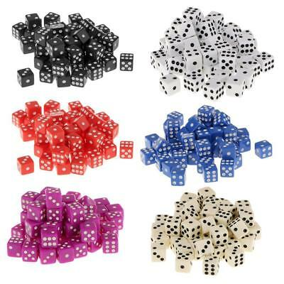 12mm 50pcs Acrylic Six Sided Spot Dice D6 for D&D TRPG Role Playing Game Props