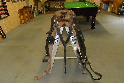 """Western Saddle, James Saddlery, Australian Made 16"""", Brown Leather, VG Condition"""