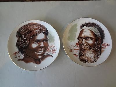 Vintage WESTMINSTER  Australian Aboriginal Fine China Pair Wall Plates