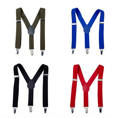Baby Kids Suspender Braces Y-Back Toddler Trousers Children 3 Clips Clothing