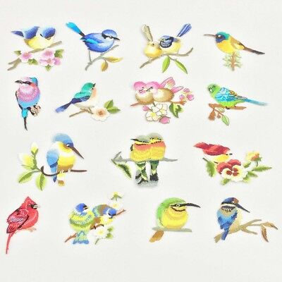 Birds Embroidery Iron Sew On Patch Badge Bag Hat Jeans Dress Applique DIY Craft