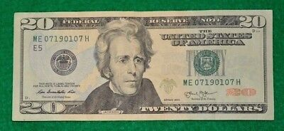 July 7, 1901 Birthday In 2013 $20 Fancy Serial Number # 07.1901.07 Bookends Note