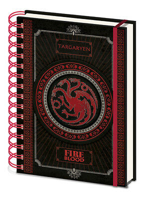 Game Of Thrones Targaryen Fire & Blood A5 Hardcover Notebook New Lined Official
