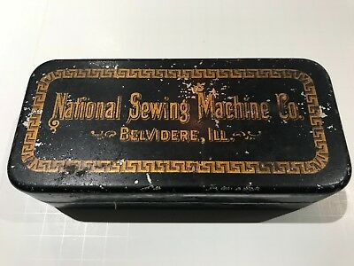 National Sewing Machine Co. Accessory Tin!!