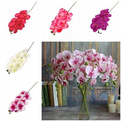 Artificial Butterfly Silk Orchid Flower Bouquet Phalaenopsis Peony Wedding Decor