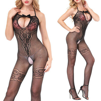 Lace Lingerie Babydoll Crotchless Teddy Nightie Leotard Body Suit StockingES