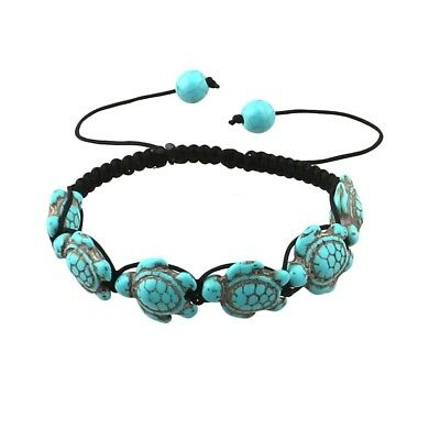 Bead Turquoise Green Turtle Bangle Beach Jewelry Accessories Braided Bracelet
