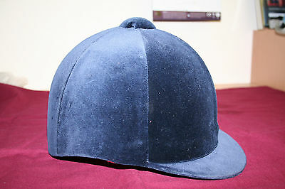 Hickstead Velvet Riding Hat Navy Hunting Showing Hat