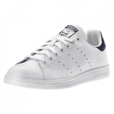 Adidas Stan Smith Bianco Blu M20325-2 Scarpe Shoes Sneakers Blue Donna Uomo