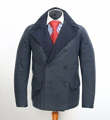 Mens Barbour Joe Casely-Hayford Wax Jacket Double Breasted Coat Size M