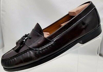 04bfa95f637 Cole Haan Loafers Pinch Tassel Moc Toe Mens Mahogany Leather Slip On Shoes  11D