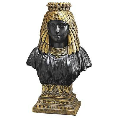 Ancient Egyptian Antique Gold Egyptian Queen Nefertiti Statue Sculpture Bust