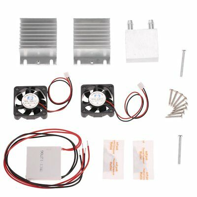 DIY TEC1-12706 Heatsink Thermoelectric Cooler Cooling Peltier Plate Module Kit#@