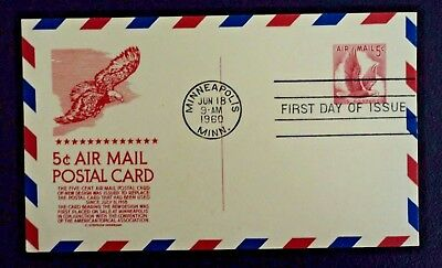 US Air Mail Postal - Postcard First Day Of Issue 1960