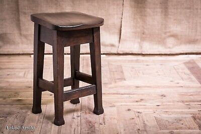 An Antique Edwardian Oak Stool