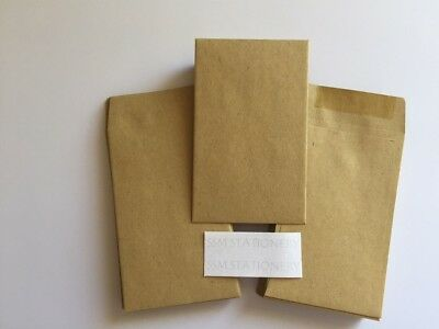 50 X Small Brown Manilla Dinner Money/wage/coin/seed Wedding Envelopes 90Gsm