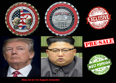PRESALE - Trump & Kim Jong-Un Peace Talks Summit Commemorative Coin Gift Present