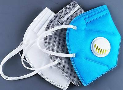 Activated Carbon Collapsible Dust Mask Charcoal Particulate Filter Respirator UK