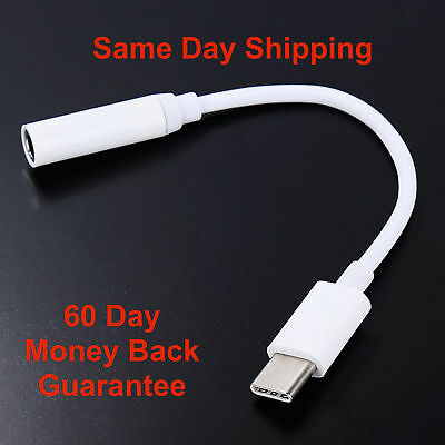 USB C Adapter Type C Port to 3.5mm Aux Audio Jack Earphone Cable USB 3.1