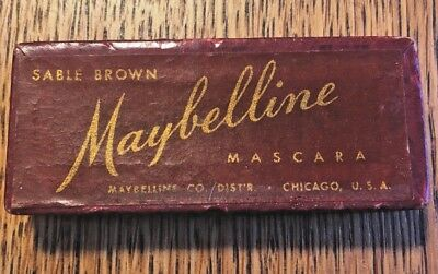 Rare vintage MAYBELLINE Brown Mascara depression era box  30's
