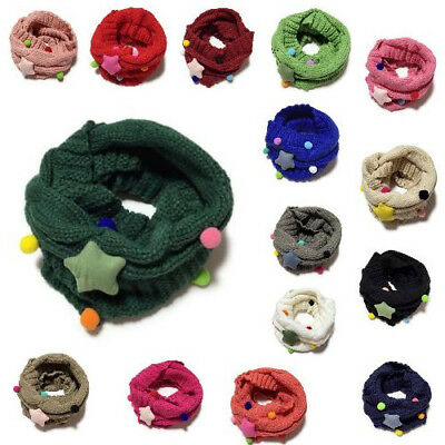 Scarf Winter Warm Sweet Thick Knitting Scarves Collar Infinity Muffler For Kids
