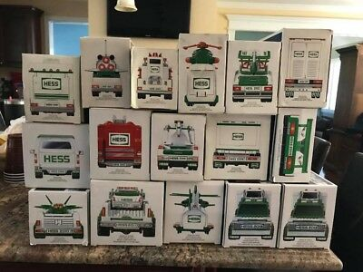 Hess Trucks - Lot of 17 trucks - Brand New in Box - Never been touched!