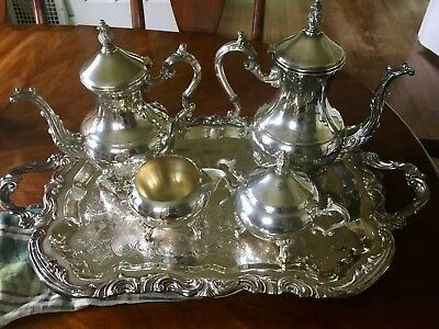 FB Rogers Silverplated Tea and Coffee Service Set