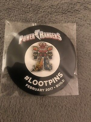 loot crate exclusive loot pin Power Rangers-new
