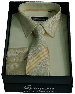 Boys Cream Special Formal Shirt And Tie Set Page Boy Wedding Prom Suit Shirts