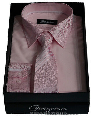 Boys Pink Special Formal Shirt And Tie Set Page Boy Wedding Prom Suit Shirts