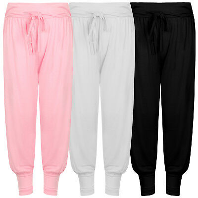 Girls' Aladdin Harem Ali Baba Baggy Pants Trousers Pink Black White Casual 4-12Y