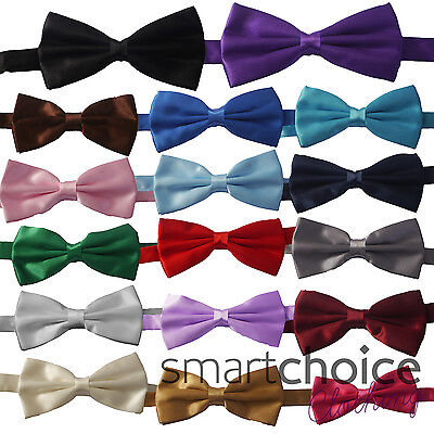 Top Quality Mens Dickie Bow Tie Multiple Colours Adjustable Wedding Bowtie Silky