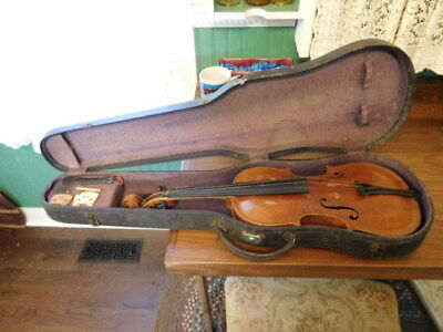 Jacobus Stainer Violin In Asam Prope With Case  For Repair Or Restoration